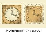 vintage watch   Shutterstock .eps vector #74416903