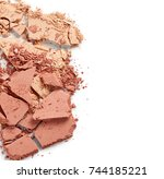 Stock photo broken face powder isolated on white background 744185221