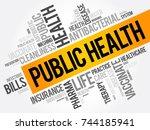 public health word cloud... | Shutterstock .eps vector #744185941