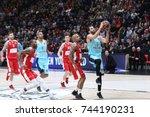 Small photo of Milan, Italy, october 2017: Ribas Pau penetration during basketball match AX ARMANI EXCHANGE OLIMPIA MILAN vs FC BARCELONA LASSA, EuroLeague 2018, Milan october 26 2017
