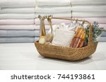 soft focus and background... | Shutterstock . vector #744193861