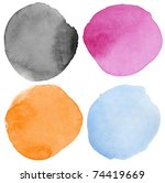watercolor hand painted circle... | Shutterstock . vector #74419669