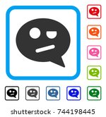negation smiley message icon....   Shutterstock .eps vector #744198445
