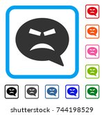 furious smiley message icon.... | Shutterstock .eps vector #744198529