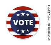 usa vote button | Shutterstock .eps vector #744213445