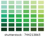green color palette vector