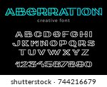 creative design vector linear... | Shutterstock .eps vector #744216679