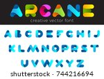 creative design vector font of... | Shutterstock .eps vector #744216694