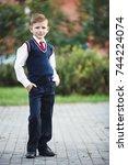 closeup portrait of young...   Shutterstock . vector #744224074