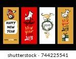 set template design of... | Shutterstock .eps vector #744225541