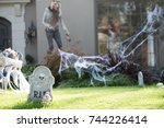 Halloween Decorations In Front...