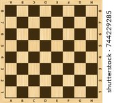 Chess Board Vector. Wooden...