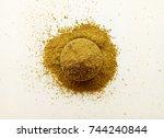 coriander powder   Shutterstock . vector #744240844