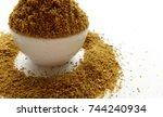 coriander powder   Shutterstock . vector #744240934