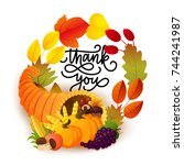 Thanksgiving Greeting Card With ...