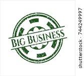 green big business rubber... | Shutterstock .eps vector #744249997
