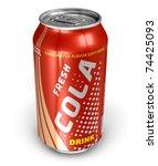 cola drink in metal can | Shutterstock . vector #74425093