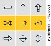 vector illustration of 9 sign... | Shutterstock .eps vector #744257095