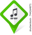 hip hop green square pointer...