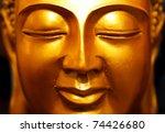 Buddha Gold Statue Close Up