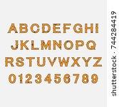 shabby alphabet | Shutterstock .eps vector #744284419
