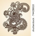 Hand Drawn Abstract Henna...
