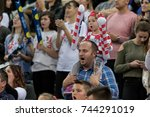 zagreb  croatia   october 28 ... | Shutterstock . vector #744291019