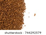 heap of instant coffee for... | Shutterstock . vector #744292579