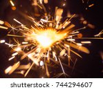 the bright sparks of the bengal ... | Shutterstock . vector #744294607