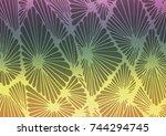 dark multicolor  rainbow vector ... | Shutterstock .eps vector #744294745