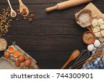 cooking ingredients for sweet... | Shutterstock . vector #744300901