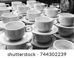 coffee cups | Shutterstock . vector #744302239