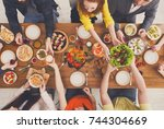people eat healthy meals at