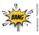 lettering bang boom star.... | Shutterstock . vector #744310207