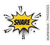 lettering popart speed line... | Shutterstock . vector #744310321