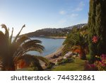 aegean sea view with nature | Shutterstock . vector #744322861