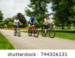 healthy lifestyle   people... | Shutterstock . vector #744326131