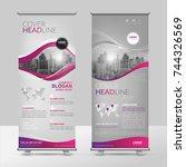 business roll up design...   Shutterstock .eps vector #744326569