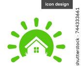 solar energy house icon