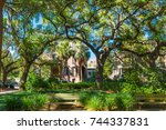 savannah  ga   april 16  2016 ... | Shutterstock . vector #744337831