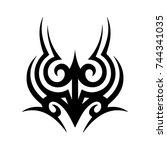 tribal tattoo art design... | Shutterstock .eps vector #744341035