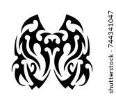 tribal tattoo art design... | Shutterstock .eps vector #744341047