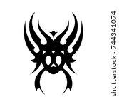 tribal tattoo art design... | Shutterstock .eps vector #744341074
