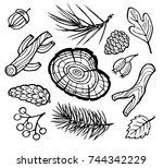 hand drawn vector illustration  ...   Shutterstock .eps vector #744342229
