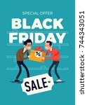 cool vector special offer black ... | Shutterstock .eps vector #744343051