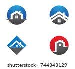 property logo template | Shutterstock .eps vector #744343129