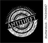 antitheft chalkboard emblem   Shutterstock .eps vector #744344047