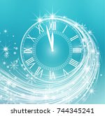 happy new year  vector... | Shutterstock .eps vector #744345241
