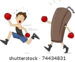 Illustration Of A Punching Bag...