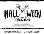 happy halloween vector... | Shutterstock .eps vector #744350305